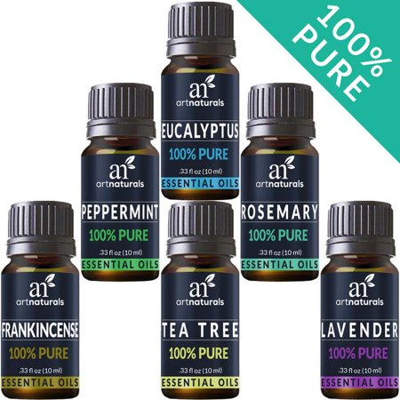 Pure Essential Oil Set (6x10mL) Natural Aromatherapy for Oil Diffuser Humidifier ()