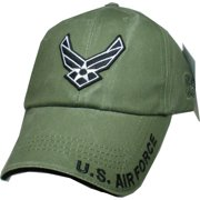 30a02461681 U.S. Air Force Wings Logo Tonal Washed Mens Cap  Olive Drab Green -  Adjustable