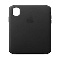 Apple Leather Case for iPhone X - Black