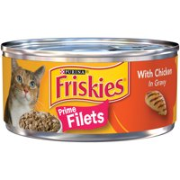 Friskies Prime Filets with Chicken in Gravy Wet Cat Food (24) 5.5 oz. Cans