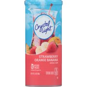 (6 Pack) Crystal Light Strawberry Orange Banana Drink Mix, 6 count Canister