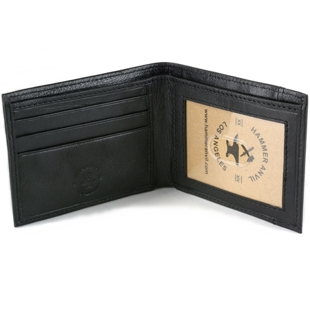 RFID Blocking Mens Leather Front Pocket Wallet Thin Slimfold Bifold