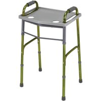 DMI Medical Walker Tray for Seniors with Cup Holder, Gray