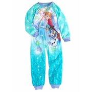 Disney Frozen Girls Elsa Anna   Olaf Blanket Sleeper Union Suit Pajamas 36a93e418