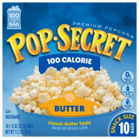 Pop Secret Popcorn, 100 Calorie Butter, 1.12 oz Snack Size Microwave Bags, 10 Count Box