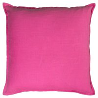 "Rizzy Home Solid Cotton Decorative Throw Pillow, 20"" x 20"", Hot Pink"