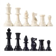 Heavy Weight Chess Game Set for Schools,Chess Board Game International Chess Pieces Complete Chessmen Set Black & White