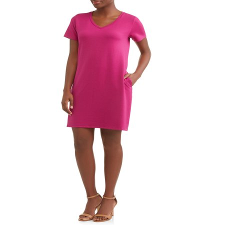 Time and Tru Women's French Terry (Racerback Terry Dress)