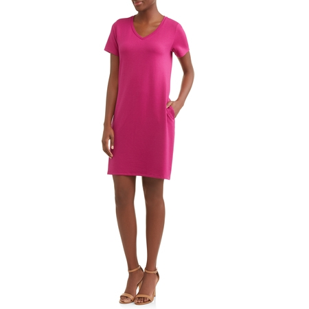 Time and Tru Women's French Terry Dress - Specialty Dresses