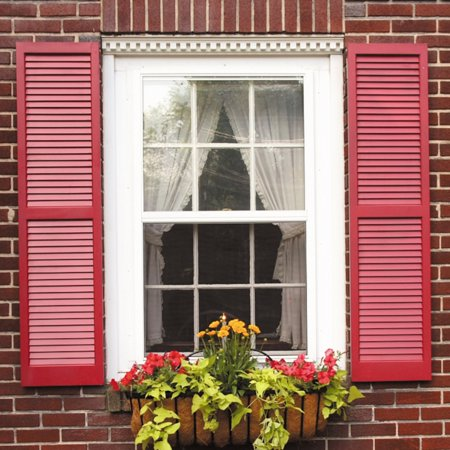 AWC Exterior Window Shutters Louvered, Pair