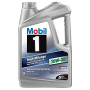 (3 Pack) Mobil 1 10W-30 High Mileage Full Synthetic Motor Oil, 5 qt.