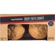 Marketside Crispy Toffee Cookies, 12ct, 7.2oz