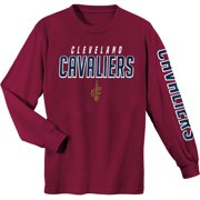 090b8718e0836 Youth Wine Cleveland Cavaliers Team Wordmark Long Sleeve T-Shirt