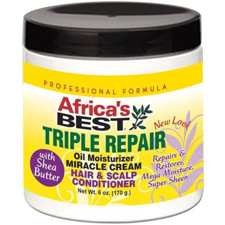 Africa's Best Triple Repair Oil Moisturizer Miracle Cream Hair & Scalp Conditioner 6