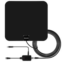 Amplified HD Digital TV Antenna with Long 65-80 Miles Range – Support 4K 1080p & All Older TV's for Indoor with Powerful HDTV Amplifier Signal Booster - 12ft Coax Cable