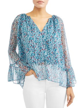 Stefani Ruffled Peasant Top Women's
