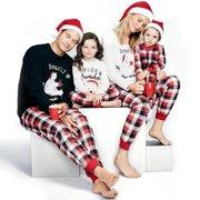 92b82eaa46 Family Matching Christmas Pajamas PJs Sets Kids Parents Sleepwear Nightwear  Baby 70-100 Kids 2