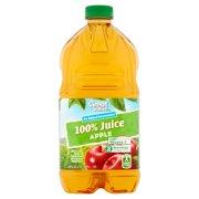 (3 pack) Great Value No Sugar Added 100% Juice, Apple, 64 Fl Oz, 1 Count