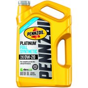 (3 Pack) Pennzoil Platinum SAE 0W-20 Dexos Full Synthetic Motor Oil, 5 qt