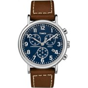 ff79a7b97 Timex Men's Weekender Chronograph 40mm 2-piece Leather |Brown| Watch  TW2R42600