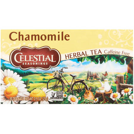 (6 Boxes) Celestial Seasonings Herbal Tea, Chamomile, 20 Count