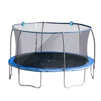 Bounce Pro 14-Foot Trampoline, with Electronic Shooter Laser Game, Blue