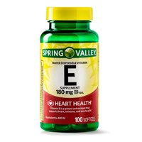 Spring Valley Vitamin E Softgels, 400 IU, 100 Ct