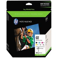 Hp 02, (q7964an) 6-pack assorted original ink w/photo paper -hewq7964an