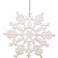 "Vickerman 6.25"" Glitter Snowflake Christmas Ornaments, Pack of 12"