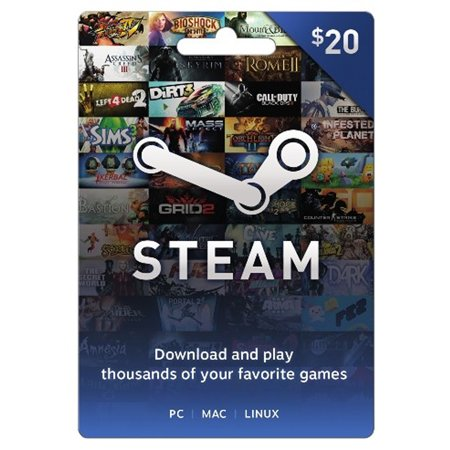 Steam 20 Giftcard Valve Physically Shipped Card Walmart Com