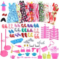 Outtop 1Set Barbie Dress Up Clothes Lot Cheap Doll Accessories Handmade Clothing