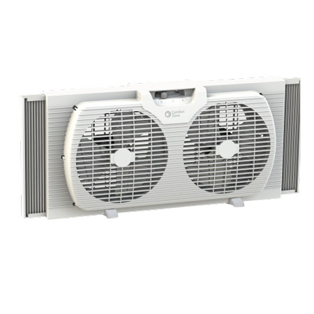 Admirable Comfort Zone Cz319Wt 9 Twin Window Fan With Reversible Airflow Control Cjindustries Chair Design For Home Cjindustriesco