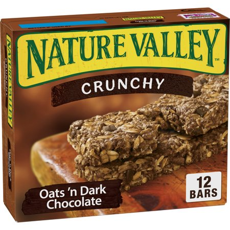 Nature Valley Granola Bars Crunchy Oats & Dark Choc (Total 12 (Best Oats For Cookies)