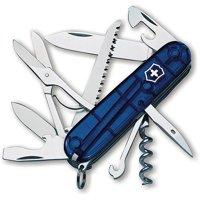 Victorinox Swiss Army Huntsman Pocket Knife, Translucent Sapphire