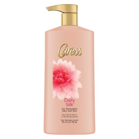 (2 pack) Caress Daily Silk Body Wash with Pump, 25.4