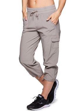 rbx active women's cargo lightweight woven capri pant
