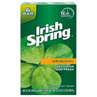Irish Spring Original, Deodorant Bar Soap, 3.7 Ounce, 6 Bar Pack