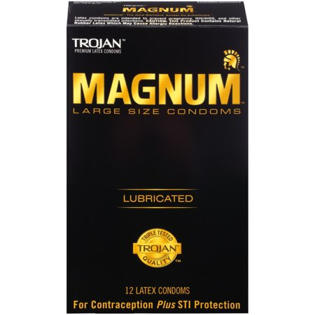 MAGNUM Large Size Condoms, 12ct (Best Condoms For Women)