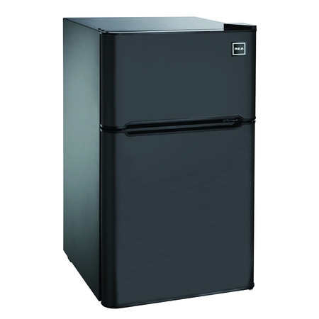 RCA 3.2 Cu Ft Two Door Mini Fridge with Freezer RFR832, Black ()