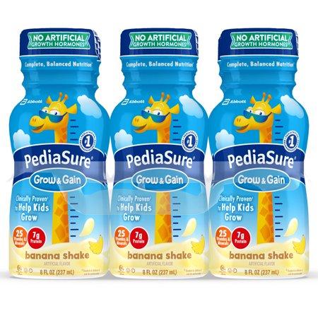 PediaSure Grow & Gain Kids' Nutritional Shake, with Protein, DHA, and Vitamins & Minerals, Banana, 8 fl oz, 6-Count