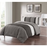 VCNY Home Edgemont Embossed Stripe 2/3 Piece Bedding Comforter Set with Shams, Multiple Colors and Sizes Available