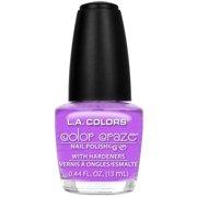 L.A. Colors Color Craze Nail Polish with Hardeners, Purple Passion, 0.44 oz