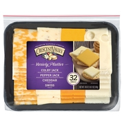 Crescent Valley Premium Natural Cheese Variety Platter, 18 Oz., 32 Count