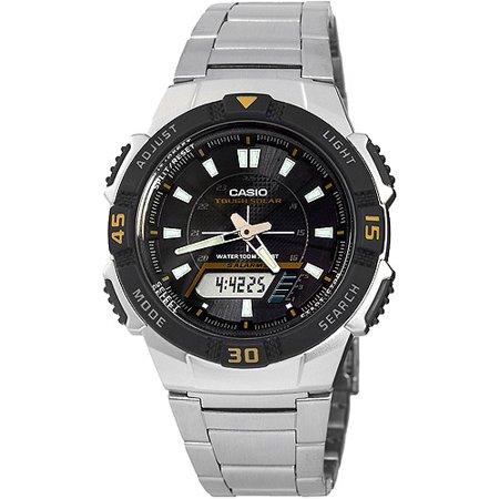 Men's Slim Solar-Powered Watch, Stainless