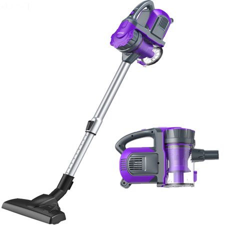 Cordless Vacuum, ZIGLINT 2-in-1 Cordless Vacuum Cleaner Handheld on Sale with Powerful Suction Re-chargeble Li-Battery for Pet Hair Car Carpet Hardwood Floor Sofa ()