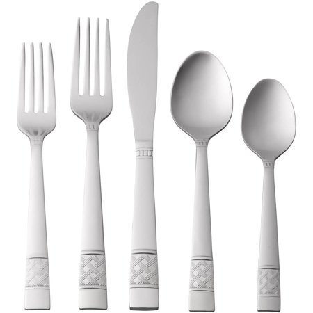 Mainstays Pierremont 20 Piece Stainless Steel Flatware Set 3 Piece Hostess Set Flatware