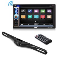 PYLE PLDNV64BCM - Premium 6.5-Inch Double Din Car Stereo with Bluetooth Receiver Headunit, Reverse Backup Camera, Car Video, Touchscreen, Waterproof, USB/SD, Aux-in, Multimedia Disc Player, MP4/MP3