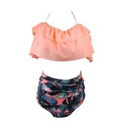 98c2e25313b9b CJCMALL Two Pieces Womens Flounce Chic Bikini Set Sexy High Waisted Push-up  Padded Bra