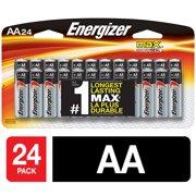 Energizer MAX Alkaline AA Batteries, 24 Pack