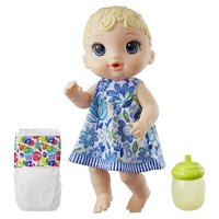 Baby Alive Lil' Sips Baby, Straight Blonde Hair, Ages 3 and up